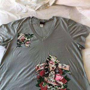 NWT Torrid T-Shirt w/ skull & Sailor Girl. Size 4